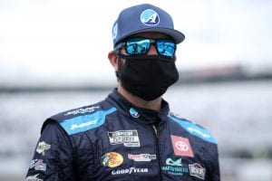 RICHMOND, VIRGINIA - APRIL 18: Martin Truex Jr., driver of the #19 Auto-Owners Insurance Toyota, waits on the grid prior to the NASCAR Cup Series Toyota Owners 400 at Richmond Raceway on April 18, 2021 in Richmond, Virginia. (Photo by Sean Gardner/Getty Images)   Getty Images