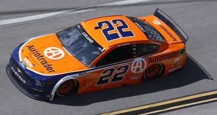 Stage 1 wreck takes Joey Logano out of Talladega contention