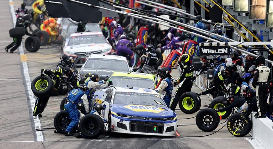 Kansas NASCAR Cup Series pit road