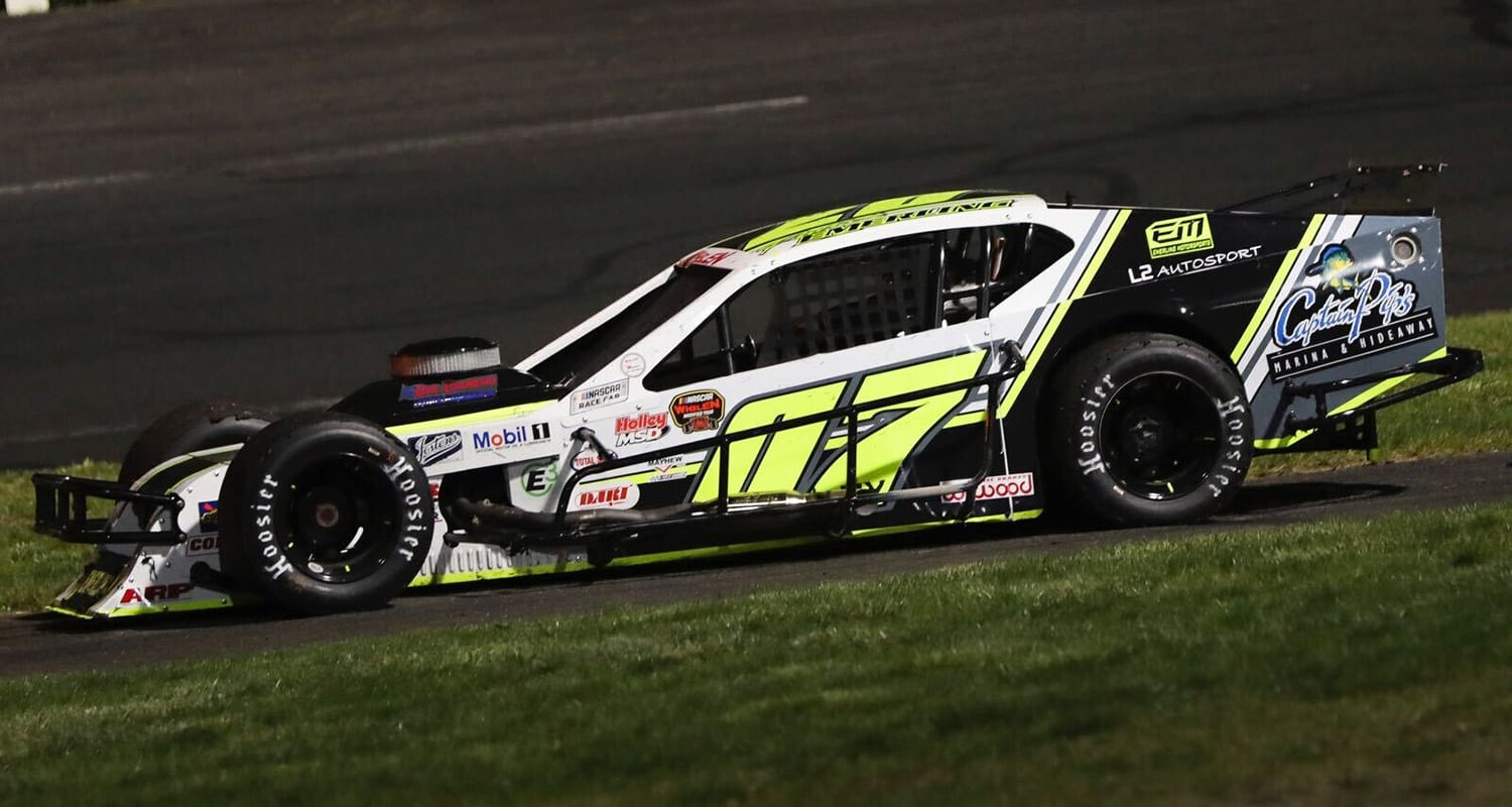 during the NAPA Auto Parts Spring Sizzler for the NASCAR Whelen Modified Tour at Stafford Motor Speedway on April 30, 2021 in Stafford Springs, Connecticut. (Adam Glanzman/NASCAR)