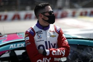 DARLINGTON, SOUTH CAROLINA - MAY 09: Alex Bowman, driver of the #48 Ally Throwback Chevrolet, waits on the grid prior to the NASCAR Cup Series Goodyear 400 at Darlington Raceway on May 09, 2021 in Darlington, South Carolina. (Photo by Chris Graythen/Getty Images) | Getty Images