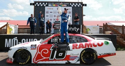 AJ Allmendinger wins NASCAR Xfinity Series race in overtime at Mid-Ohio