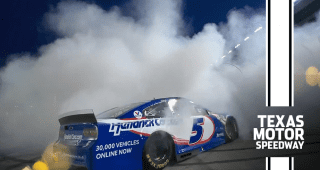 Money and tires to burn: Larson smokes out the All-Star Race