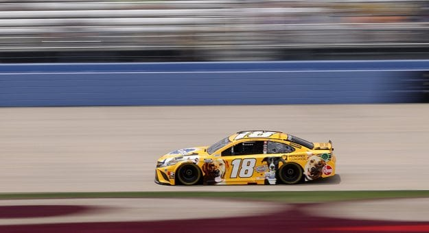 LEBANON, TENNESSEE - JUNE 19: Kyle Busch, driver of the #18 Pedigree Toyota, drives during practice for the NASCAR Cup Series Ally 400 at Nashville Superspeedway on June 19, 2021 in Lebanon, Tennessee. (Photo by Sarah Stier/Getty Images) | Getty Images