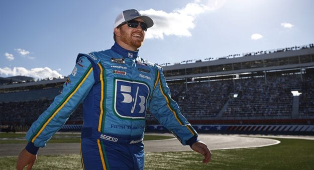 CONCORD, NORTH CAROLINA - MAY 30: Chris Buescher, driver of the #17 Fifth Thrid Bank Ford, walks the grid prior to the NASCAR Cup Series Coca-Cola 600 at Charlotte Motor Speedway on May 30, 2021 in Concord, North Carolina. (Photo by Jared C. Tilton/Getty Images) | Getty Images