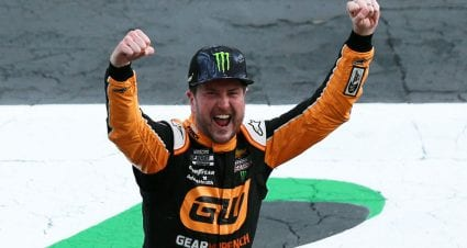 Kurt Busch wins battle of brothers, scores first victory of the season at Atlanta