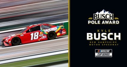 Kyle Busch locks up Busch Pole Award for New Hampshire; see starting lineup