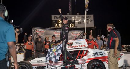Ryan Preece rallies with 'razzle dazzle' to win Modified Tour race at Stafford
