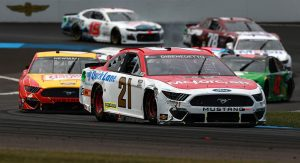 INDIANAPOLIS, INDIANA - AUGUST 15: Matt Dibenedetto, driver of the #21 Motorcraft/Quick Lane Ford, drives during the NASCAR Cup Series Verizon 200 at the Brickyard at Indianapolis Motor Speedway on August 15, 2021 in Indianapolis, Indiana. (Photo by Sean Gardner/Getty Images) | Getty Images
