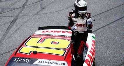 AJ Allmendinger makes most of third overtime, seals Xfinity Series win at Michigan