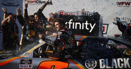 Noah Gragson surges in overtime at Darlington, rolls to first Xfinity win of the season