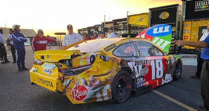 Kyle Busch tangles with Austin Dillon, crashes out in Darlington playoff opener