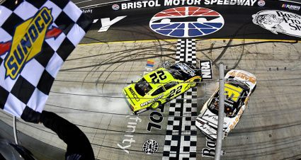 Xfinity regular-season title decided by last-lap contact at Bristol: 'That's how AJ races'