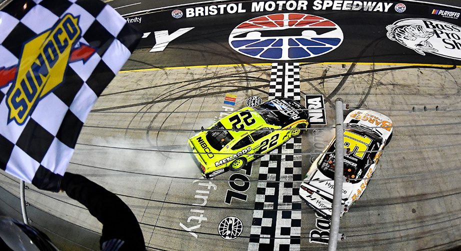 Xfinity regular-season title decided by last-lap contact at Bristol: 'That's how AJ races' - NASCAR
