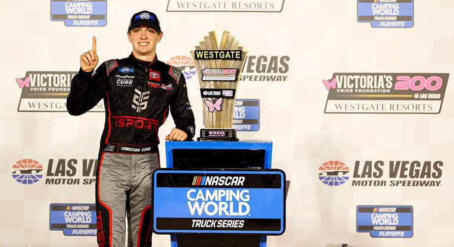 Christian Eckes earns first career Camping World Truck Series win at Las Vegas - NASCAR