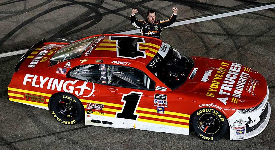 Josh Berry rolls at Las Vegas, speeds to second Xfinity Series win in 1-2-3 JRM finish - NASCAR