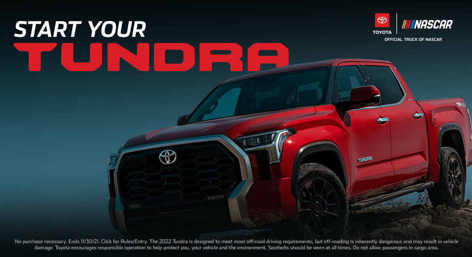 Get your chance to win the all-new 2022 Toyota Tundra - NASCAR