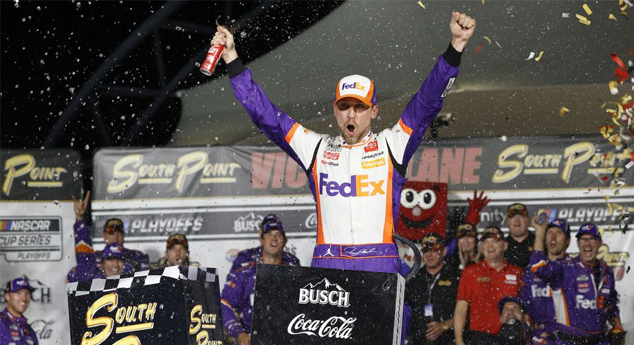 Denny Hamlin victorious in Vegas, advances in Cup Series playoffs - NASCAR