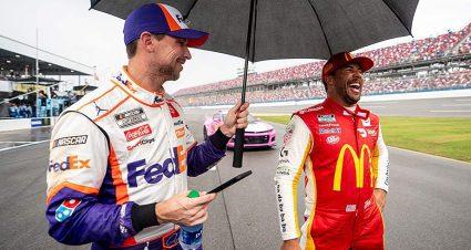 Like a proud parent: Denny Hamlin cherishes 23XI Racing's first win, looks toward the future