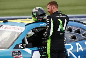 CONCORD, NORTH CAROLINA - OCTOBER 09: Jeb Burton, driver of the #10 Radiate Next Chevrolet, exits his car after the NASCAR Xfinity Series Drive for the Cure 250 presented by Blue Cross Blue Shield of North Carolina at Charlotte Motor Speedway on October 09, 2021 in Concord, North Carolina. (Photo by Jared C. Tilton/Getty Images)   Getty Images