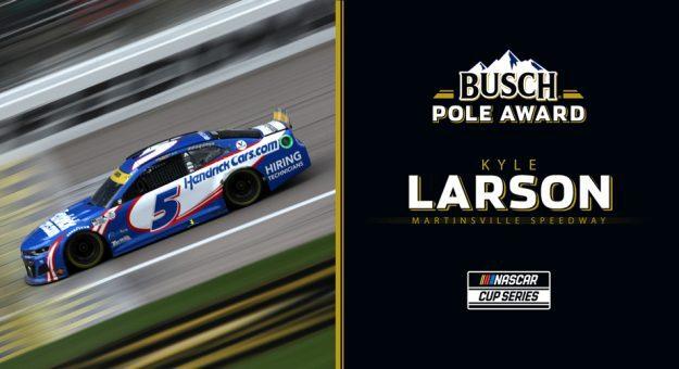 Kyle Larson wins Busch Pole Award for Martinsville playoff race
